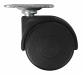 Castor double, swivel - 40mm