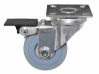 Castor with brake and plate - 50mm