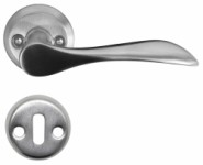 Brushed steel door handle