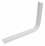 Shelf bracket U profile 150 x 200mm - white