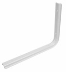 Shelf bracket U profile 200 x 250mm - white