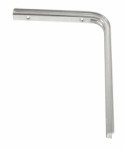 Shelf bracket U profile 200 x 250mm - Electro-galvanised