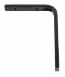 Shelf bracket F profile 150 x 200mm - black