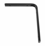 Shelf bracket F profile 200 x 250mm - black