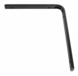 Shelf bracket F profile 250 x 300mm - black