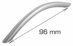Curved handle - 96 mm