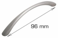 Low curved handle - 96 mm