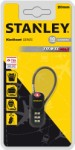 Stanley code lock 20 mm – black – with 3 digits and cable