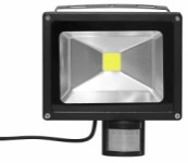 Work light with sensor, 20 W - 230 V with 3 metre cable and plug