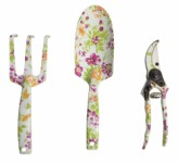 Planting tools, floral pattern - 3 items.